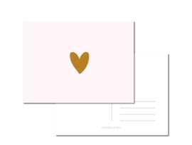 a Pink Heart per 6 stuks