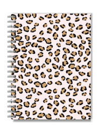Notebook A5 Softcover | Pink Leopard | Per 5 stuks
