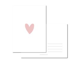 Heart Pink per 6 stuks