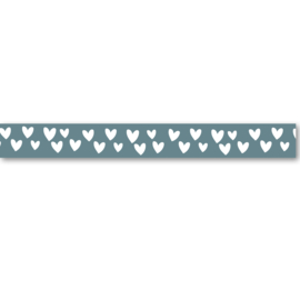Washi Tape | Green & White Hearts | Per 5 stuks