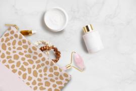 Cosmetic Bag / Etui   Pink Cheetah    Per 5 stuks