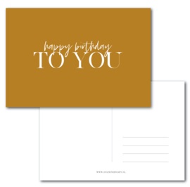 HAPPY Birthday to you  |  per 6 stuks