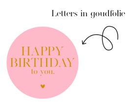 500 stickers | Happy Birthday to you |  BRIGHT pink