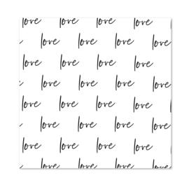 Inpakpapier per 10 rollen  LOVE Black & White