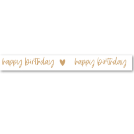 Washi Tape | Happy Birthday   | Per 5 stuks