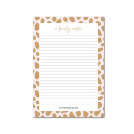 A5 Notitieblok | Pink Cheetah | Per 5 stuks
