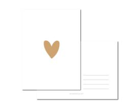 Heart Leopard Brown per 6 stuks