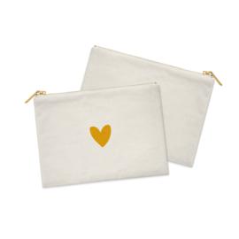 Cosmetic Bag / Etui  | Heart of GOLD | Per 5 stuks