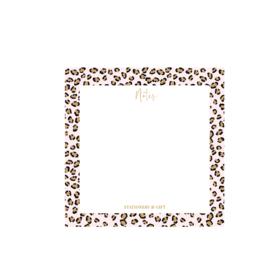 Pink leopard Notes per 6 stuks