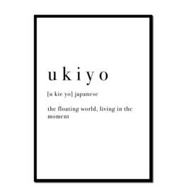 Poster A4 | U K I Y O  | per 5 stuks