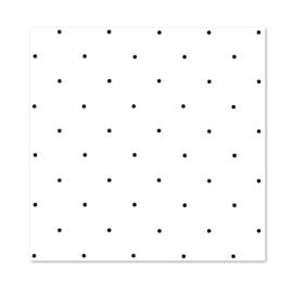 Inpakpapier per 10 rollen   DOTS Black & White