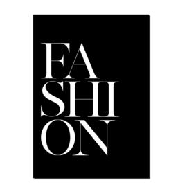 Poster A4 | Fashion Black | Per 5 stuks