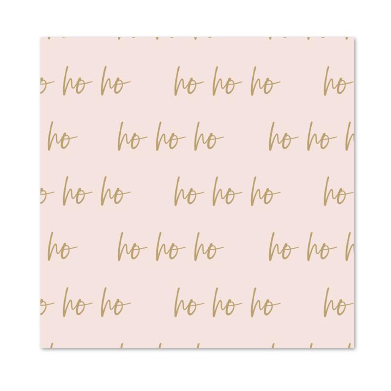 Inpakpapier   Ho Ho Ho   Per 10 rollen