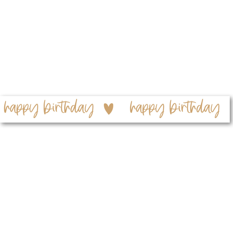 Washi Tape | Happy Birthday   | Per 5 stuks