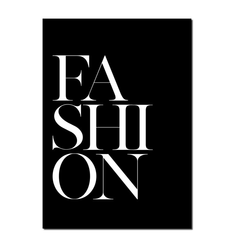Poster A4   Fashion Black   Per 5 stuks