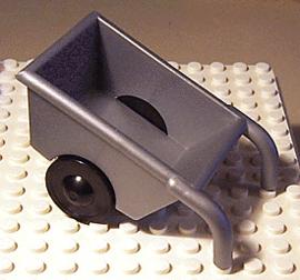 Kruiwagen grijs zilver