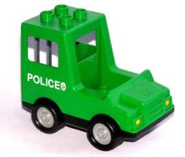 Politie busje groen