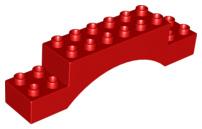 Duplo blokken : 2x10 duplo blokje boog rood