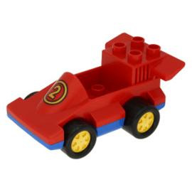 Formule 1 auto rood met gele 2