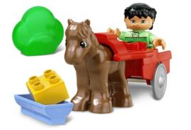 Lego Duplo Paard en wagen  4683