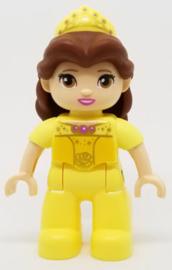 Belle, roodbruin haar, gele Tiara  nieuw