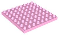 Duplo bouwplaat 8x8 licht roze