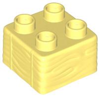 Duplo blok 2x2 licht geel met hooi profiel nieuw 69716