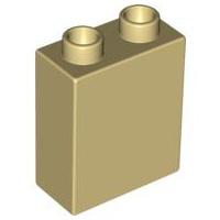 Duplo blokken 1x2x2 bouwstenen beige