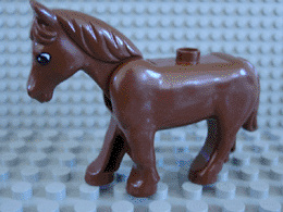 Duplo paard bruin met beweegbaar hoofd B keuze