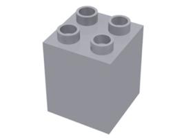 Duplo blokken : 2x2x2 licht grijs