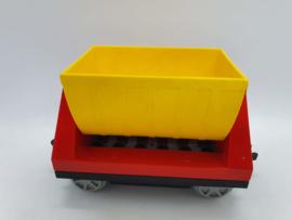 Duplo trein wagon rood gele laadbak