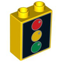 Duplo Stoplicht geel/zwart