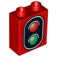 Duplo Stoplicht trein rood/zwart