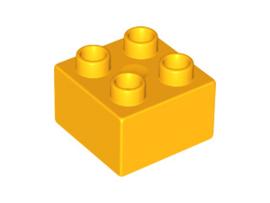 Duplo blokken 2x2 - bouwstenen Licht Oranje
