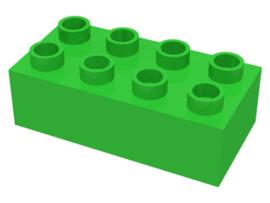 Duplo blokken 2x4 - bouwstenen licht groen