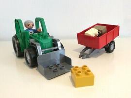Duplo tractor met aanhanger 4687