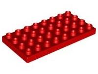 Duplo plaat 4x8 rood