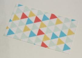 Duplo handdoek met gekleurde driehoeken nieuw