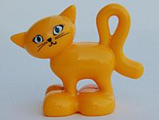 Duplo poes - kat  donker geel