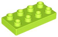 Duplo bouwplaat 2 x 4 x 1/2 lime