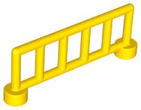 Duplo onderdelen : Duplo hekje geel met 6 staanders