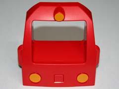 Duplo trein voorkant rood