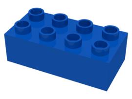 Duplo blokken 2x4 - bouwstenen blauw