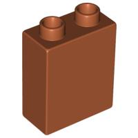Duplo blokken 1x2x2 bouwstenen donker oranje