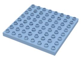 Duplo bouwplaat 8x8 licht blauw