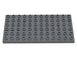 Duplo bouwplaat 6x12 donker grijs