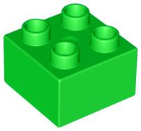 Duplo blokken 2x2 - bouwsteen lichtgroen