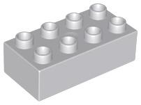 Duplo blokken 2x4 - bouwstenen licht grijs