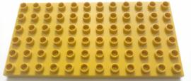 Duplo bouwplaat 6x12 donker geel