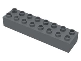 Duplo blokken : 2x8 duplo donker grijs
